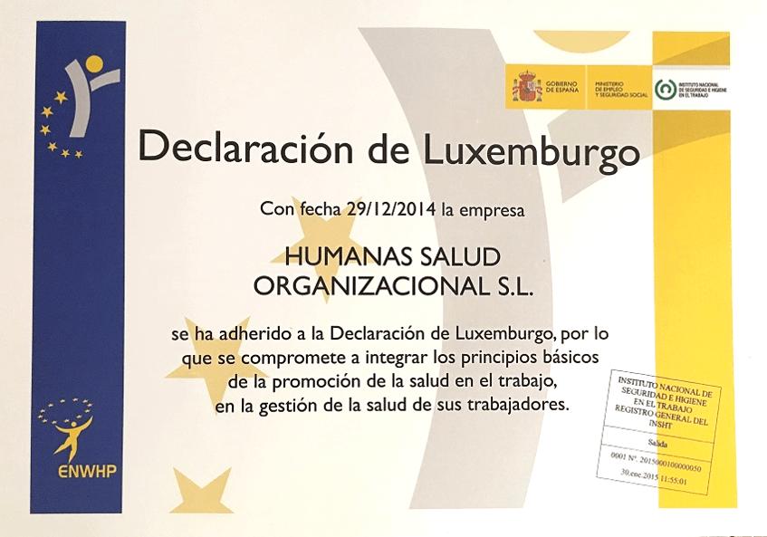 Humanas se ha adherido a la Declaración de Luxemburgo
