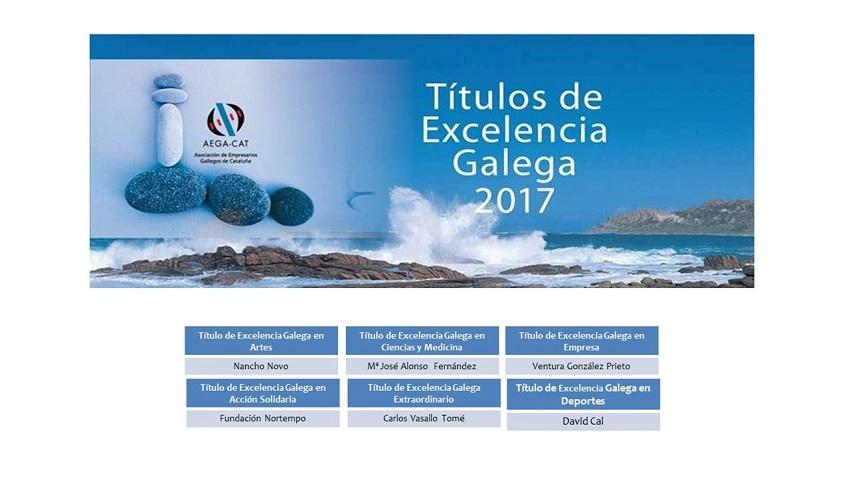 AEGA-CAT Títulos de Excelencia Galega 2017
