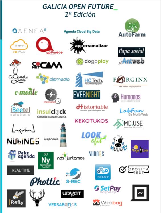 Participantes 2ª Edición Galicia Open Future