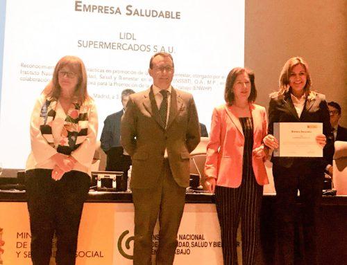 Lidl es reconocida como 'Empresa saludable' por el INSSBT