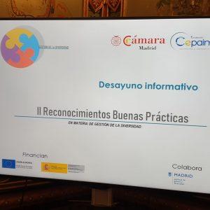 desayuno informativo Reconocimientos a las Buenas Prácticas en Gestión de la Diversidad en Madrid